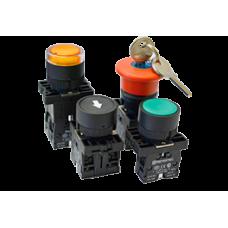 Кнопки, переключатели, лампы в пластиковом исполнении IP40 MTB2-E